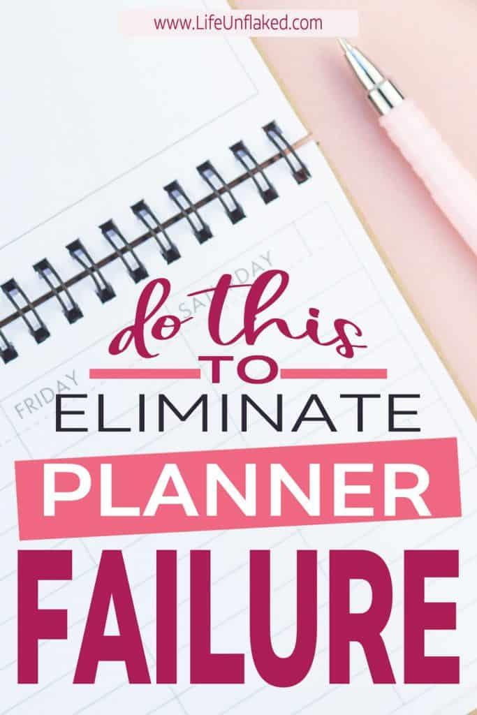 planner for beginners