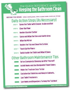 Quick reference how to keep the bathroom clean and fresh