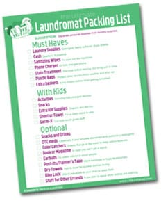 how to use a laundromat - checklist