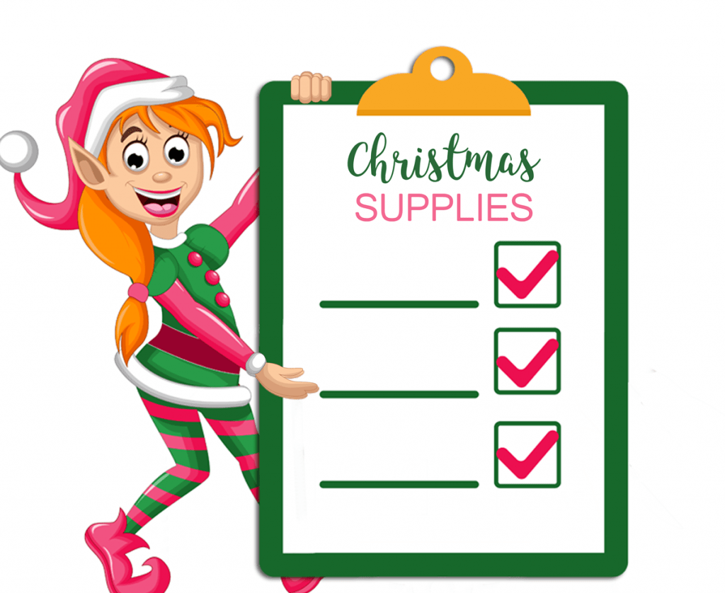 organizing decluttering before holidays elf with checklist